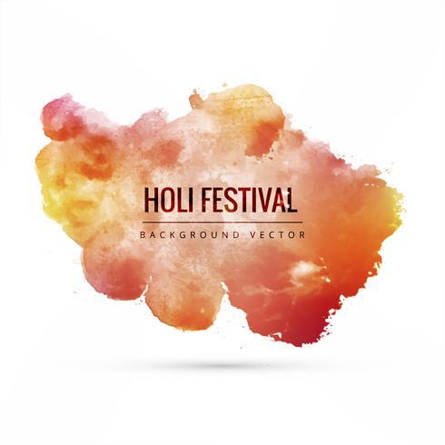 illustration de fond coloré de happy holi pour le festival de c