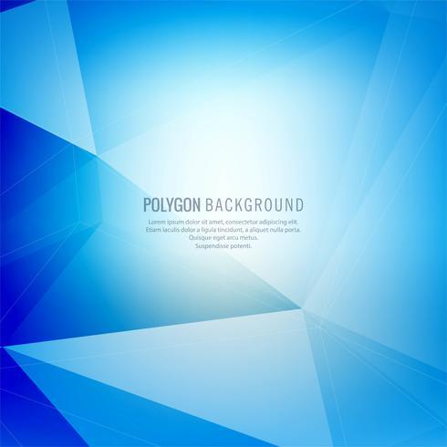 Abstract blue polygon design