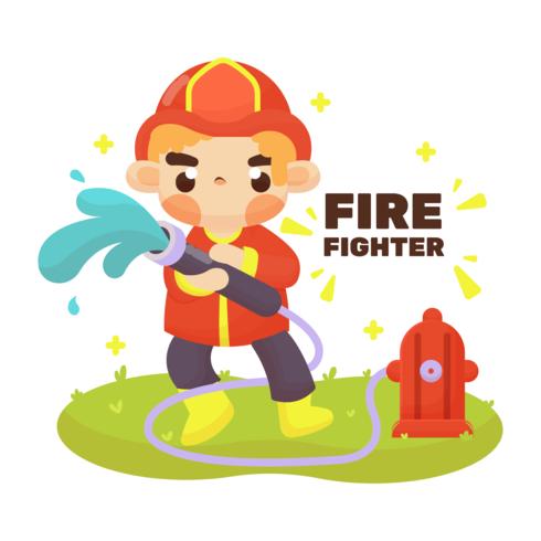 Vector de bombero