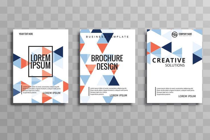 Abstract creative geometric colorful  brochure flyer design illu