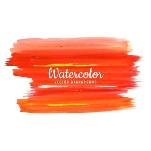 Abstract beautiful stroke watercolor background vector