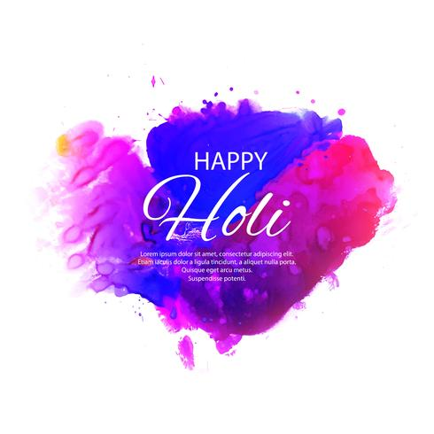 illustration of colorful Happy Holi Background for Festival of C vector