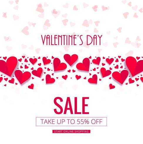 Modern valentine's day sale background vector