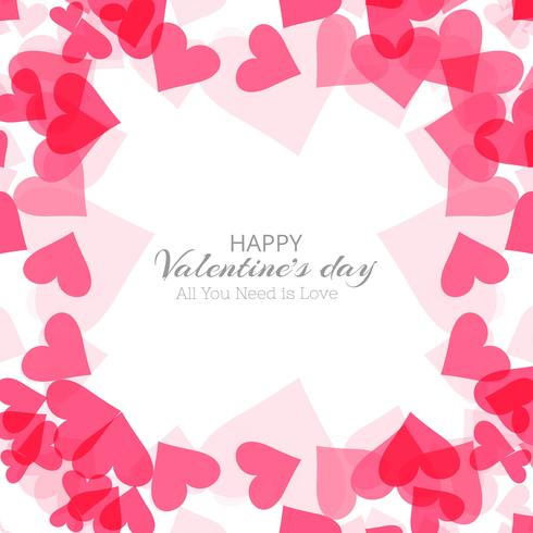 Valentinsgrußtagesbunter Herzkartenhintergrund