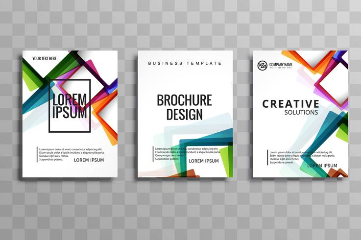 moderne Business-Broschüre festgelegt
