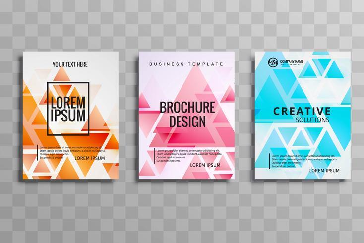 conjunto de folletos de negocios modernos vector