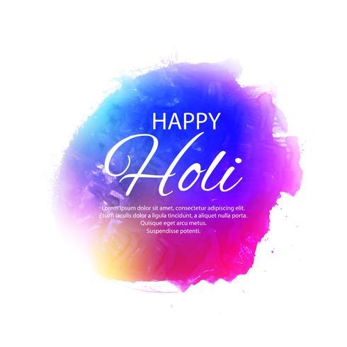 Illustration des abstrakten bunten glücklichen Holi-Hintergrundes