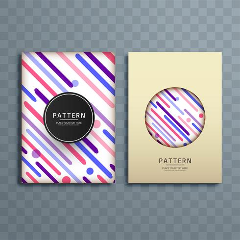 Abstrato colorido padrão brochura design ilustração