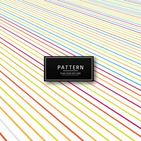 Abstracte kleurrijke creatieve lijnen patroon vectorillustratie