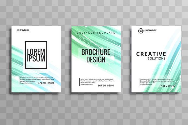 Abstract business brochure set design
