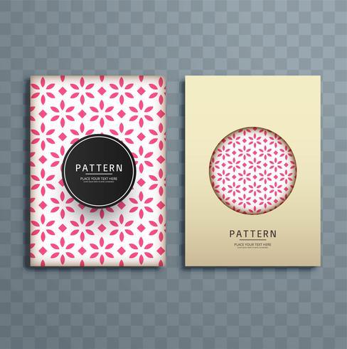 Ilustração de design de brochura padrão floral abstrato
