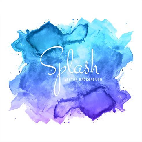 abstracte hand getrokken blauwe aquarel plons ontwerp vector