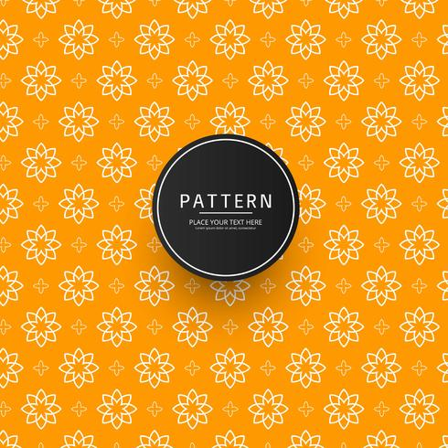 Seamless abstract floral ornament pattern design