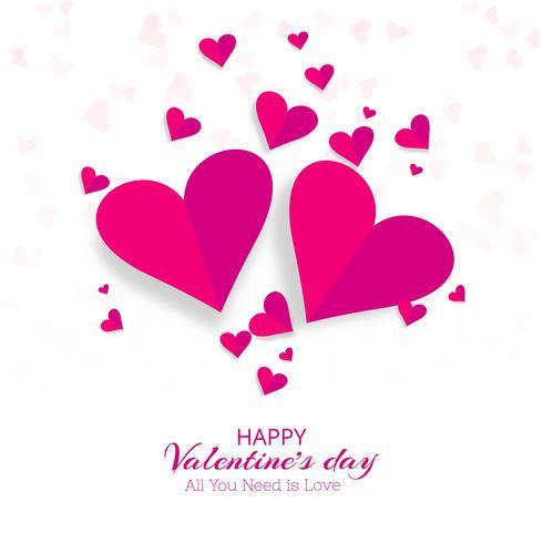 Creatieve Valentijnsdag decoratieve harten achtergrondillustrati