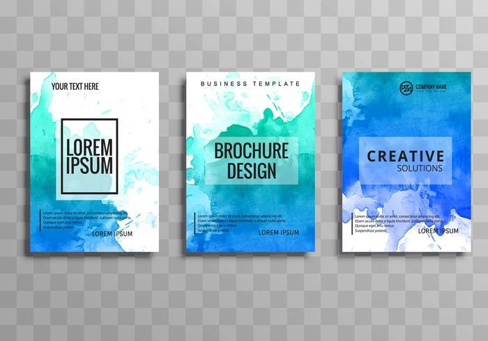 Moderne zakelijke brochure sjabloon set
