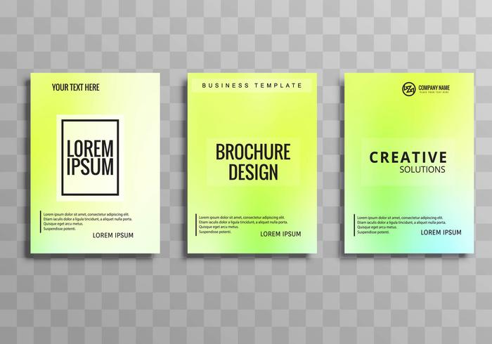 Moderne kleurrijke zakelijke brochure sjabloon