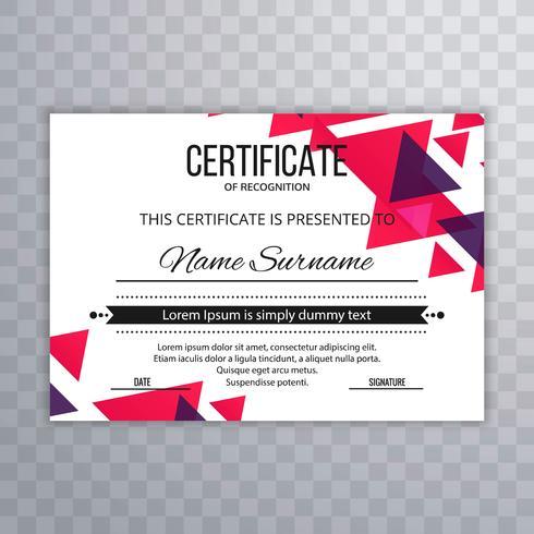 Il modello premio del certificato assegna il illu variopinto di vettore del diploma