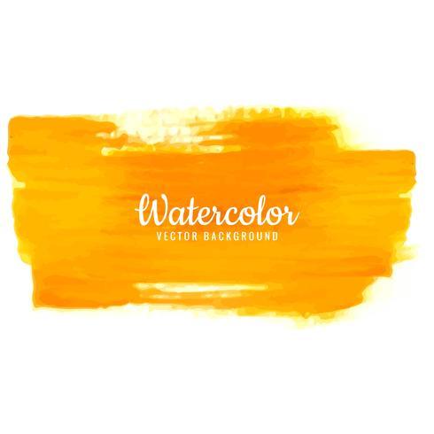 Modern orange watercolor stroke background vector