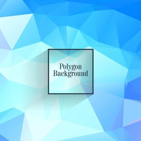 Elegante Hintergrundillustration des blauen Polygons