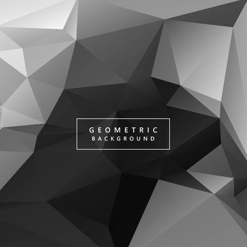 Abstract gray geometric polygon background illustration vector