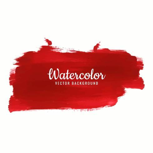 Red watercolor stroke design vector