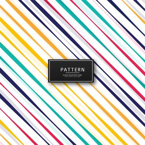 Schöne bunte Linien Muster Vektor Hintergrund