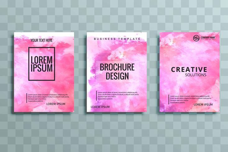 moderno opuscolo colorato set di affari