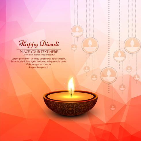 Schöner glücklicher diwali Hintergrund