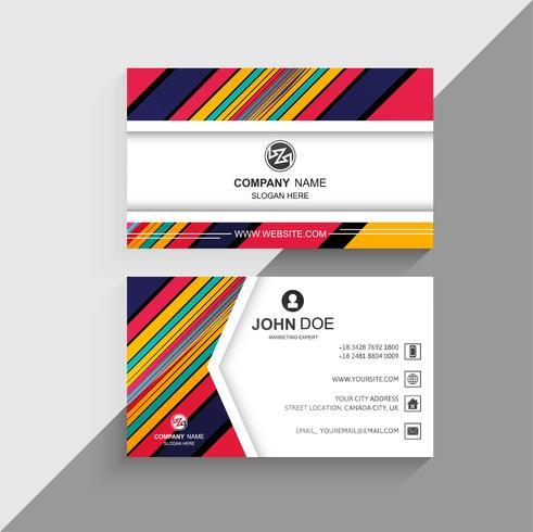 Abstract kleurrijk lijnen visitekaartje creatief ontwerp
