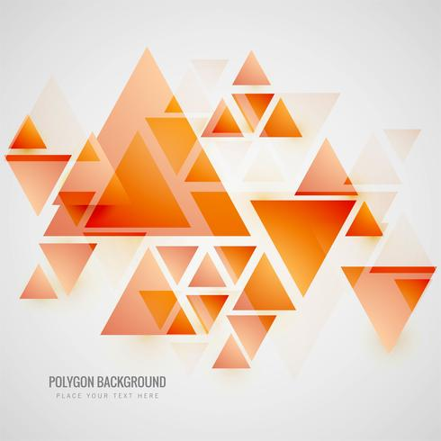 Modern polygon background vector