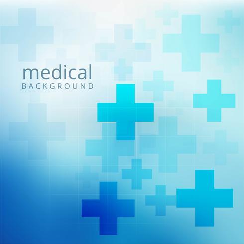 Mooie blauwe medische achtergrond concept poster vector