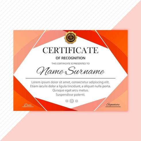 Abstract creative certificate diploma template design