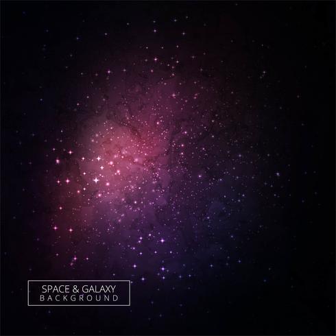 Abstrakter bunter kosmischer Hintergrund mit Licht, glänzende Sterne VE