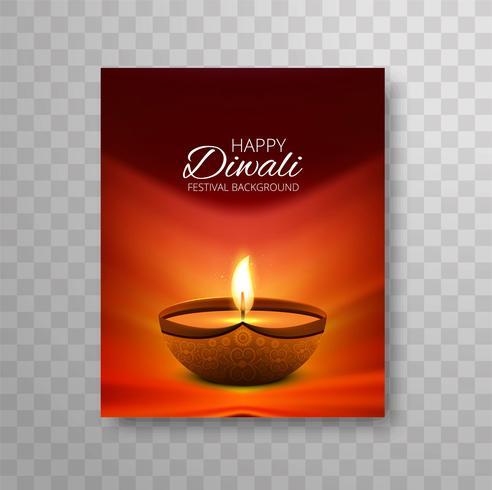Modern colorful diwali bright design brochure