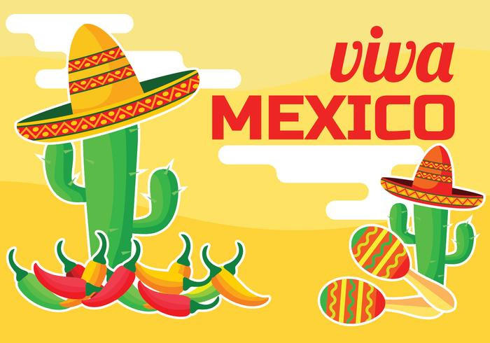 viva mexico vektor illustration