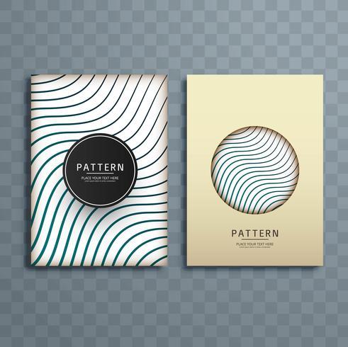 Ilustração abstrata criativa design de brochura