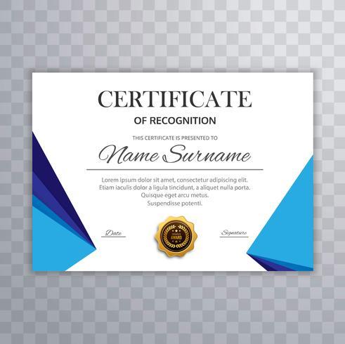 Modern certificate template background vector