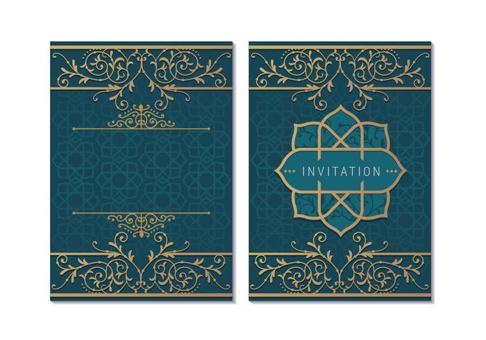 Wenskaart of uitnodiging islamitische stijl