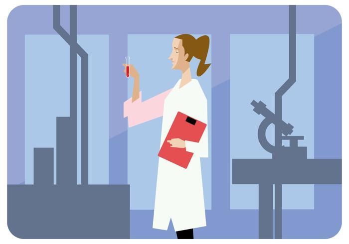 Vrouwelijke wetenschapper Vector