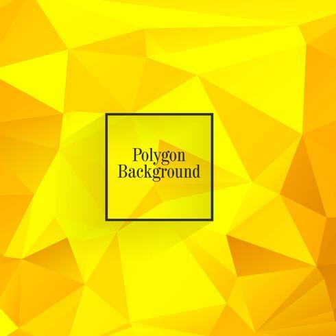 Mooie veelhoek gele achtergrond