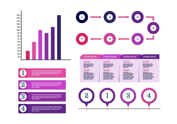 Ultraviolet Infographic elementen Vector