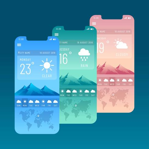 Weather Screens Vector
