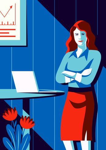 Professional Woman Illustration