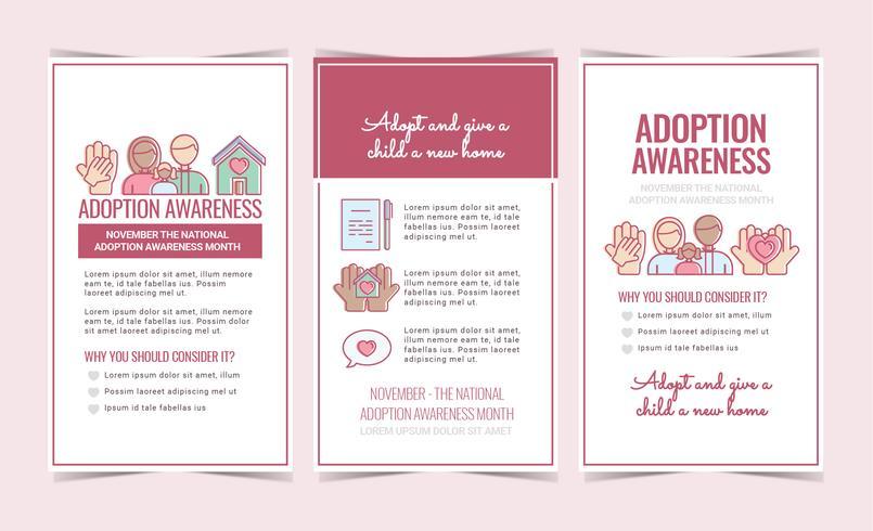 Consciência Da Adopção Panfletos