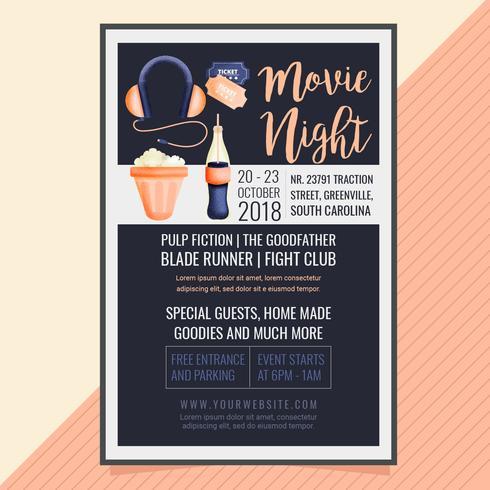 Vector Movie Night Poster