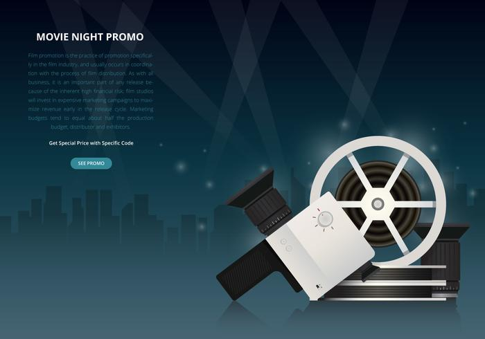 Film Nacht Party Poster oder Web Template