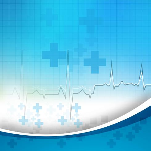 Abstract blue medical background with wave vector
