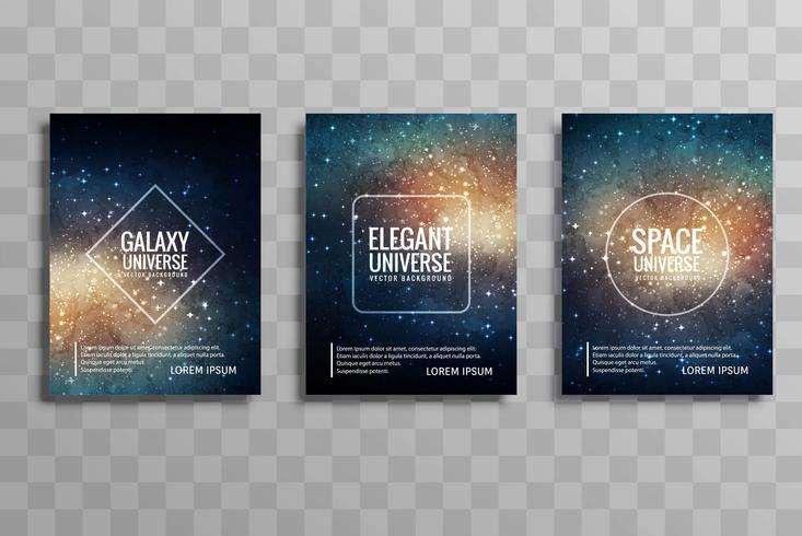 Conjunto moderno folleto de negocios de galaxy stylie