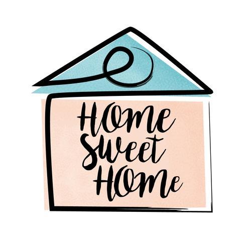 Home Sweet Home Belettering vector