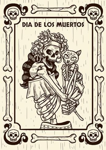 Tag der toten Vektor-Illustration
